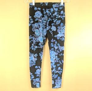Express Floral Print Leggings Sz Sm